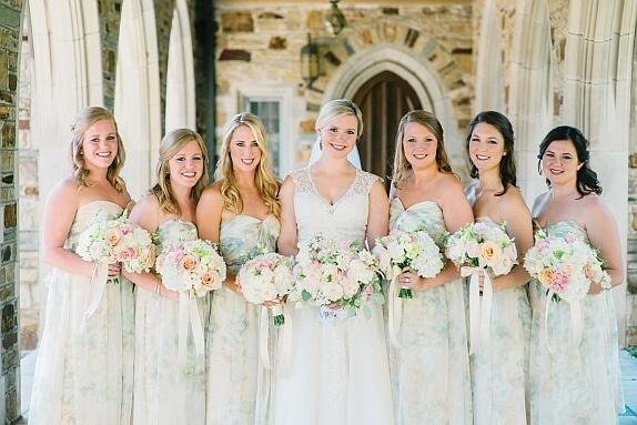Rebecca & her Bridesmaids