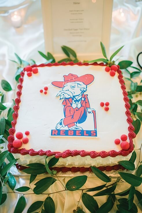 Rob Special Ole Miss Wedding Cake