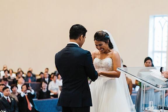 June & Ben take Vows