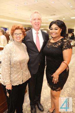 Vicki Jones, Michael Bohner with Tiffany Moore