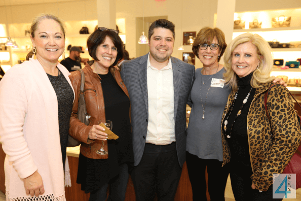 Monica Baker, Arlene Goldner, Philip & Paula Jacobson with Lisa Baker