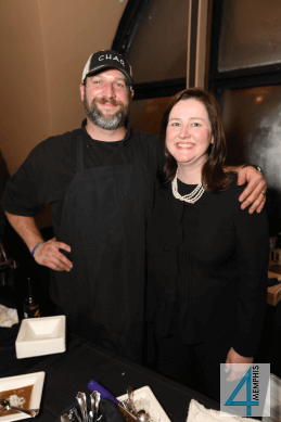 Chef Steven Howell with Aubri Luckey
