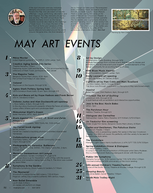 Ken Hall's April 2019 Art Events