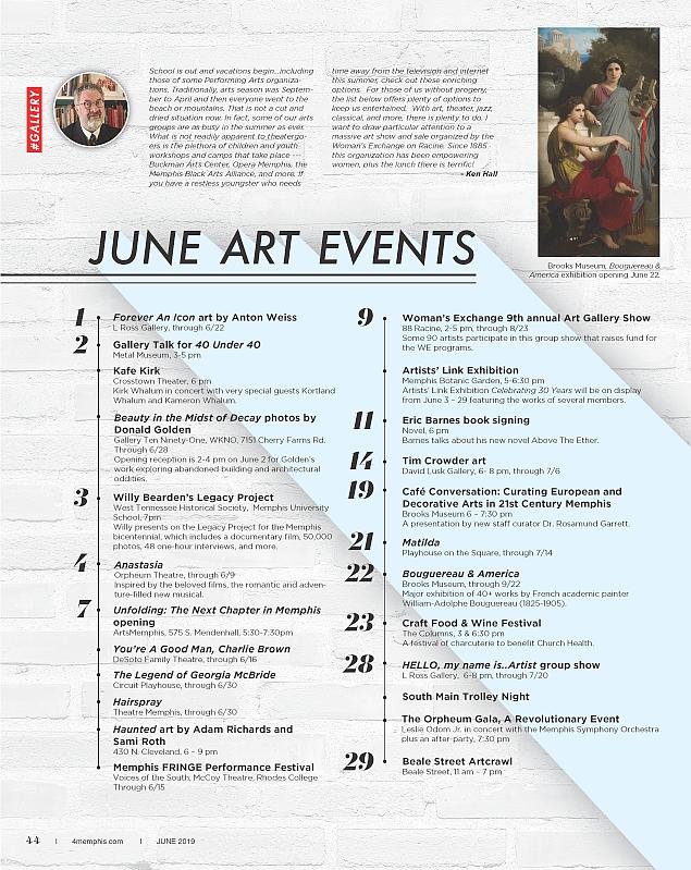 Ken Hall's April 2019 Art Events