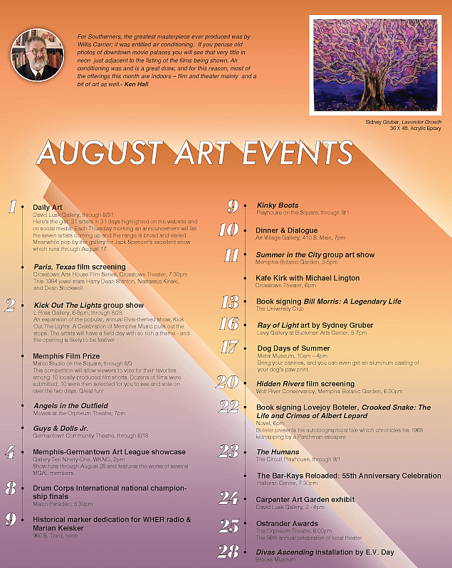 Ken Hall's July 2019 Art Events