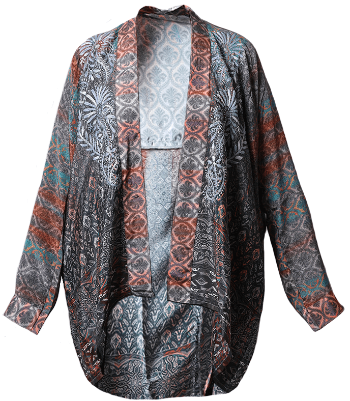 Patterned cape from Sorelle Boutique