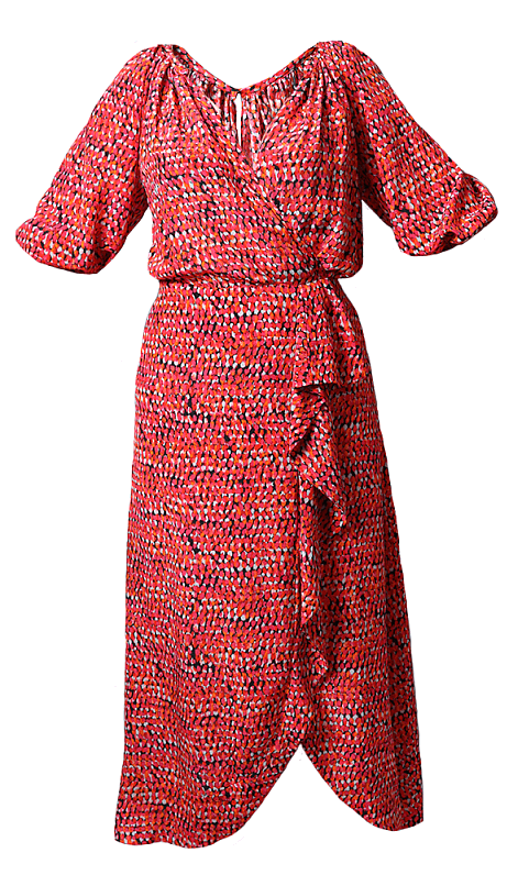 Red patterned dress from Joseph in Laurelwood