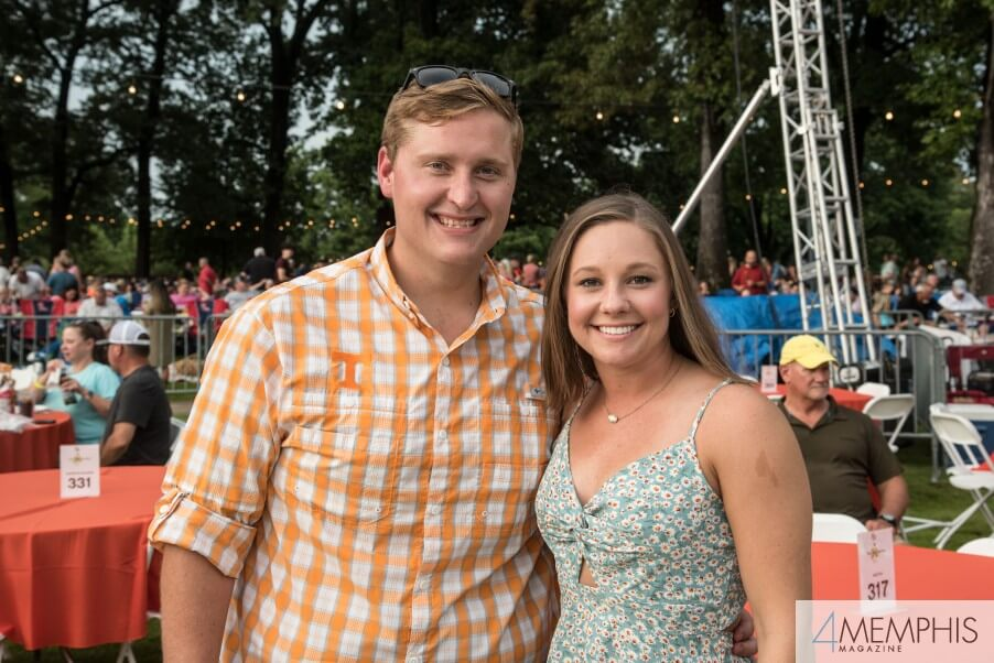 Colby & Brooke Dorris attending Brad Paisley Live at the Garden